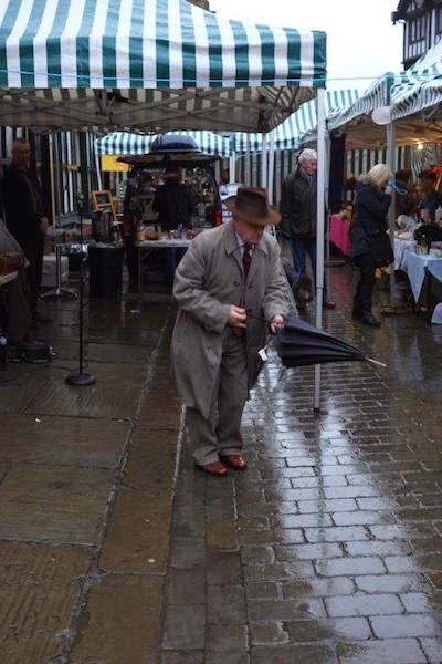 Paul Harper with Boland's Bygones' brolly