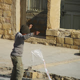 Young boy with kite