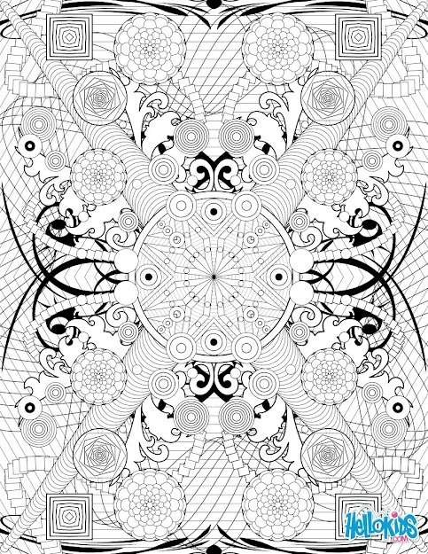 Circles And Rosettes Rosette Intricate Patterns Coloring Page