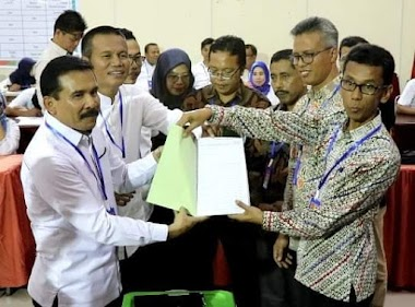 Fakhrizal dan Genius Umar Resmi Mendaftar ke KPU Sumbar, Bacalon Gubernur dan Wakil Gubernur Jalur Independen