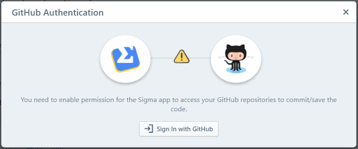 'GitHub Authentication' pop-up