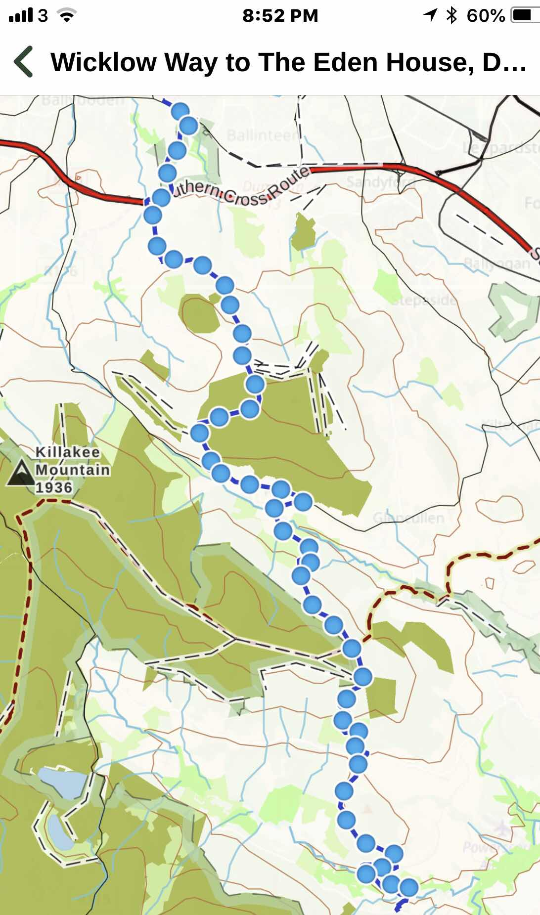 overview map. Cronewoods to the end