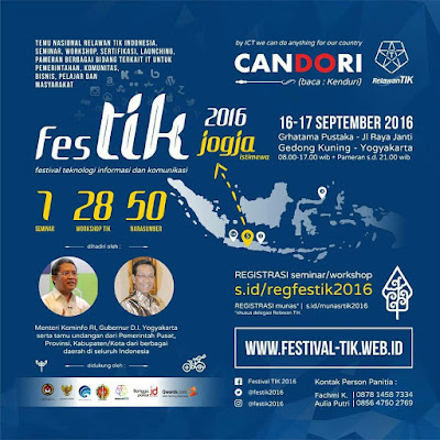 event Festik2016 candori di Grhatama Pustaka Yogyakarta.
