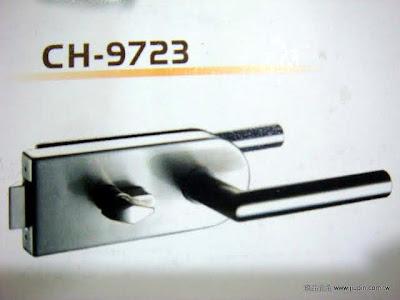 裝潢五金品名:CH9723-玻璃水平鎖規格:65*115mm 型式:單邊(玻對壁) 顏色:SN/PC 材質:白鐵玖品五金