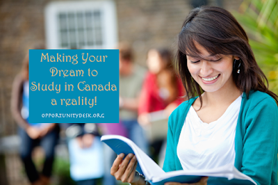 Apply for free scholarship programme  in Canada  – Make your dream a reality