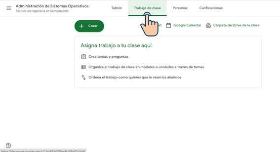 Crear Tareas - Google Classroom
