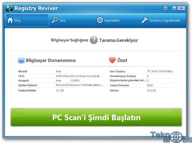 Registry Reviver v4.12.1.14 Türkçe Full