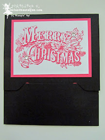 stampin up, envelope punch board, christmas postcard, gift card, gutschein verpackung, more merry messages