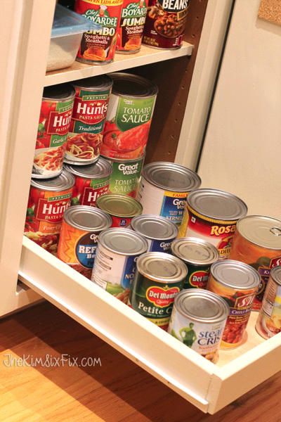 Can organizing in deep cabinet