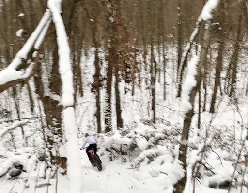 Snowy singletrack shredding!