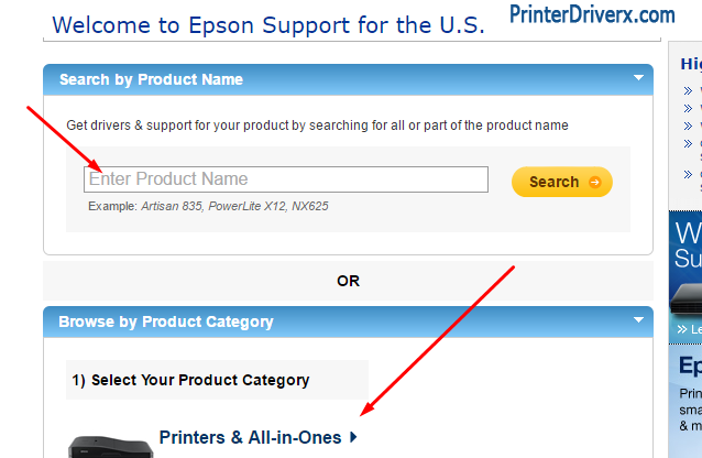 Did not find your Epson WorkForce 315 printer driver download