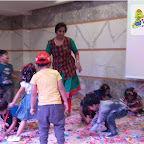 Holi Celebrated by Nursery Morning Section at Witty World, Chikoowadi (2017-18)