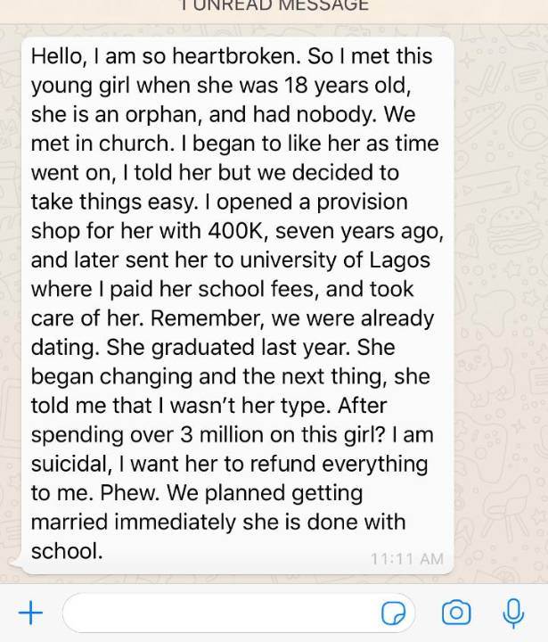 Lady Dumps Boyfriend After Sending Her To School And Spending Over 3 Million On Her