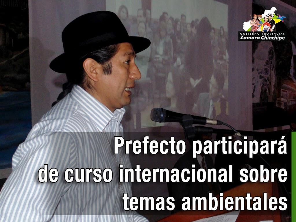 PREFECTO PARTICIPARÁ DE CURSO INTERNACIONAL SOBRE TEMAS AMBIENTALES