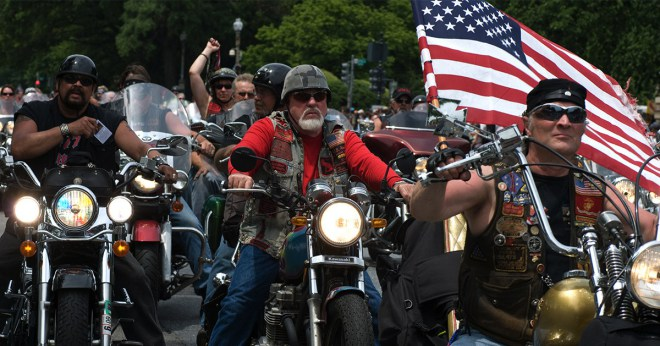 Media tags Bikers for Trump: 'vigilantes', 'biker gang'