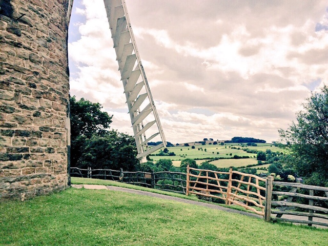 The countryside surrounding Heage windmill