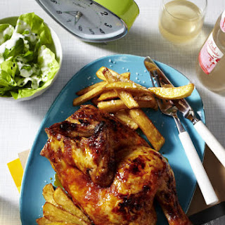 Roast Chicken and French Fries