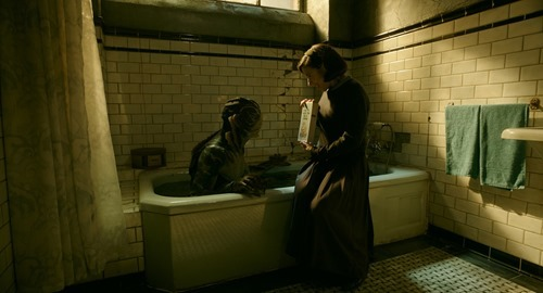 doug jones & sally hawkins in THE SHAPE OF WATER