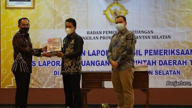 Kali Kedelapan, Pemkab Balangan yang Kini Dipimpin Abdul Hadi-Supiani Raih WTP