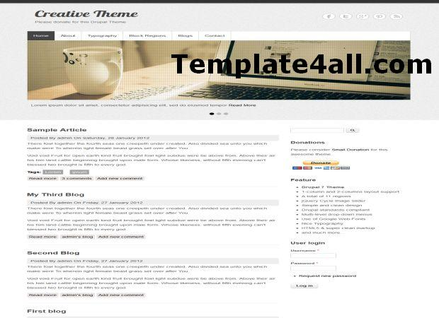 Free Light Business Drupal Theme Template