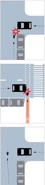 Un vehículo impacta lateralmente contra un ciclista