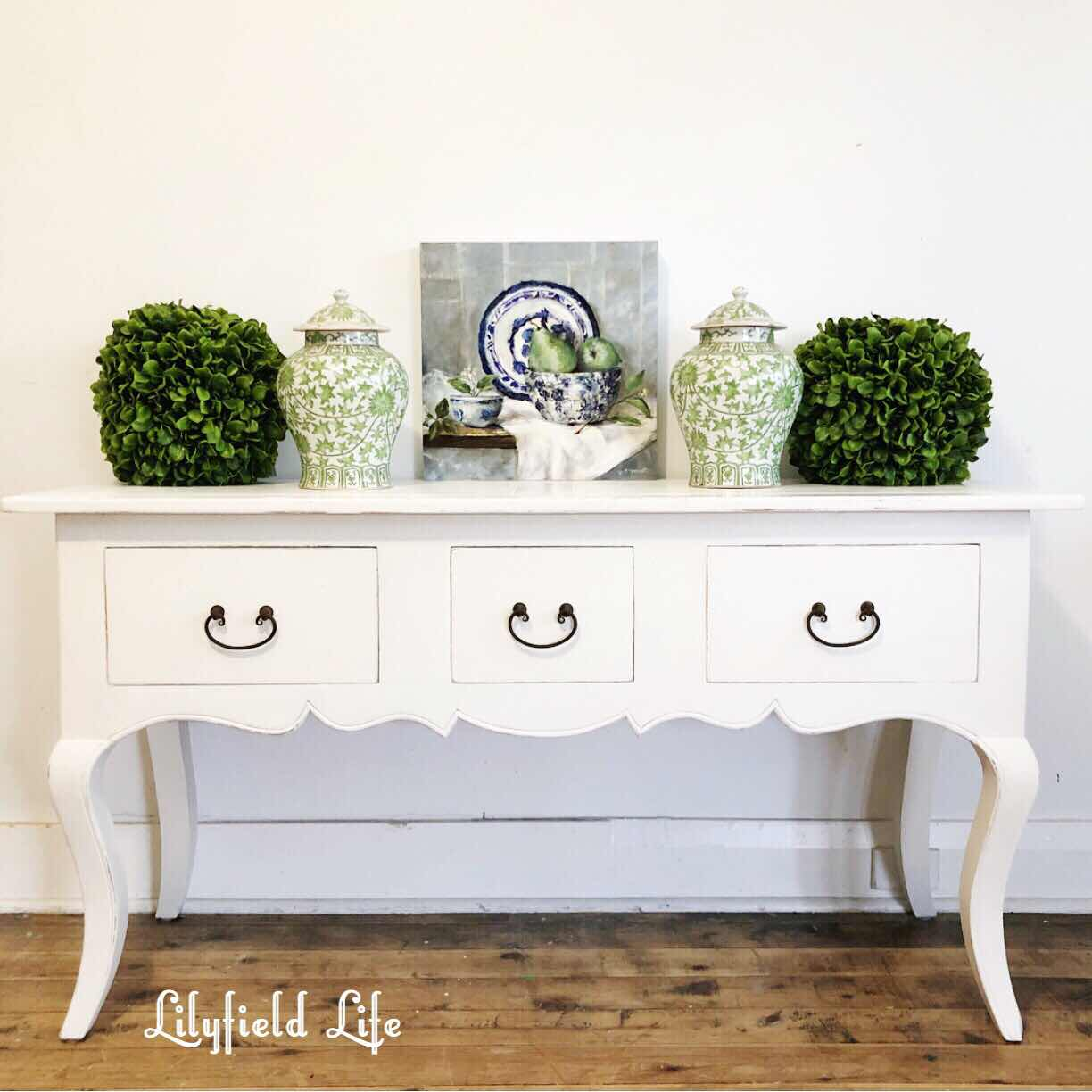 French style white console table Lilyfield Life