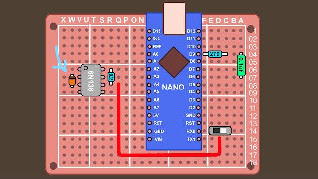Synth build guide MIDI circuit 9