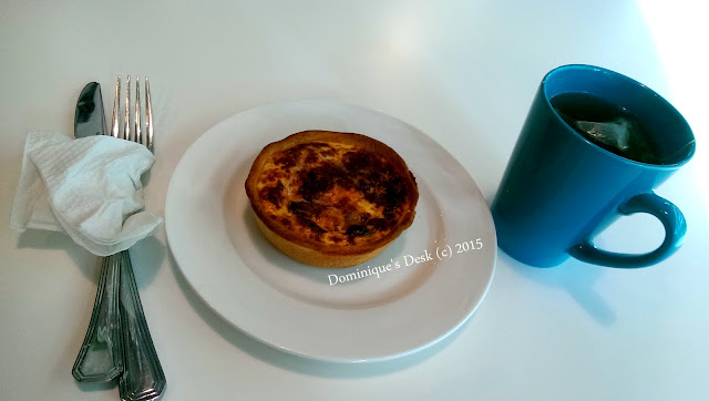 Ham Quiche and green tea