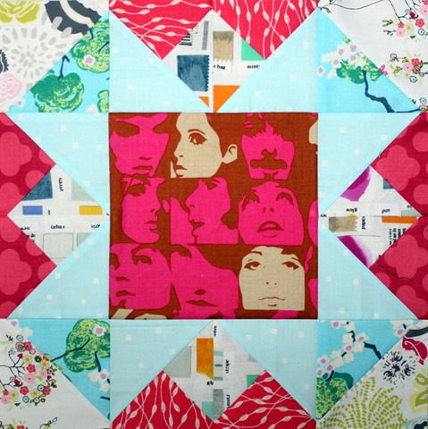 Salt Lake City quilt block by Kim Lapacek