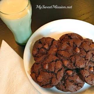 Fudgy Double Chocolate Cookies.