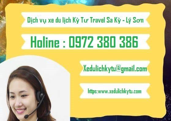 Dịch vụ xe du lịch Kỳ Tư Travel Sa Kỳ - Lý Sơn