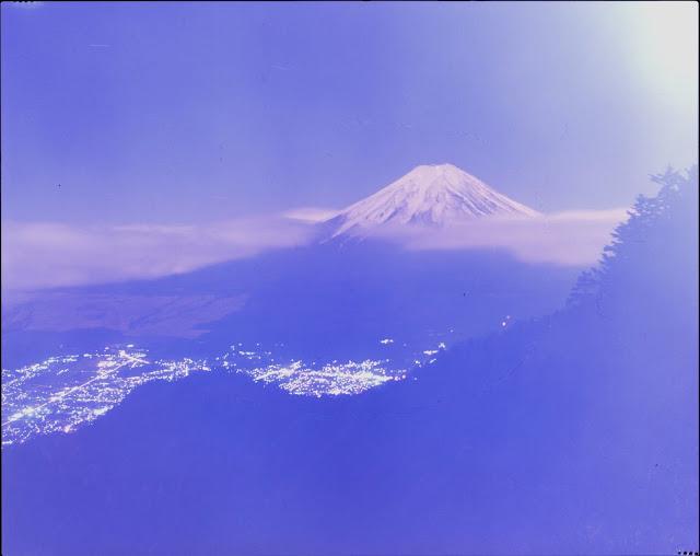 期限切れフィルム 4×5カメラ 三つ峠 富士山 リンホフテヒニカ