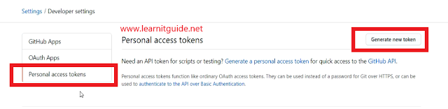 generate new access token in github