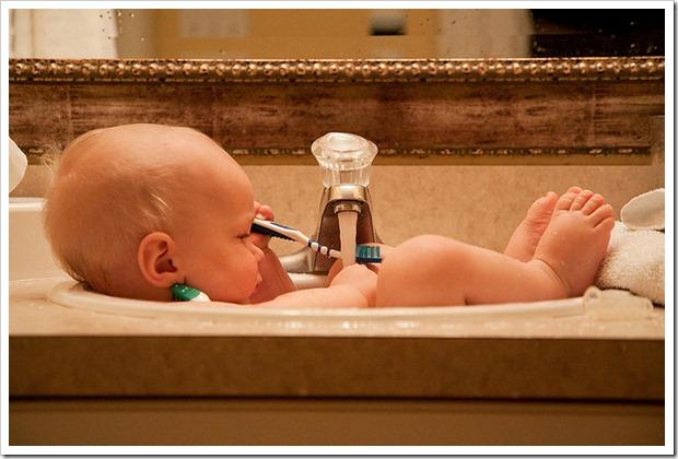 Il talco per l'igiene dei bambini