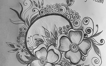 circular flower tattoo design