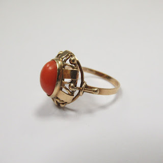 14K Gold and Coral Ring