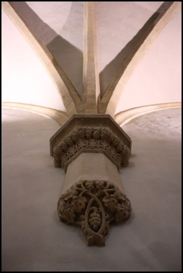Decorated capital Presbytery of the Church of St Francis, St Agnes of Bohemia