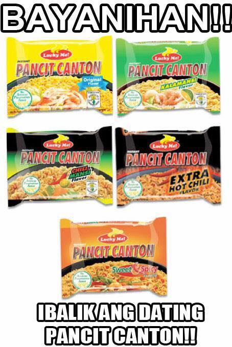 Image of new versus old Lucky Me Pancit Canton