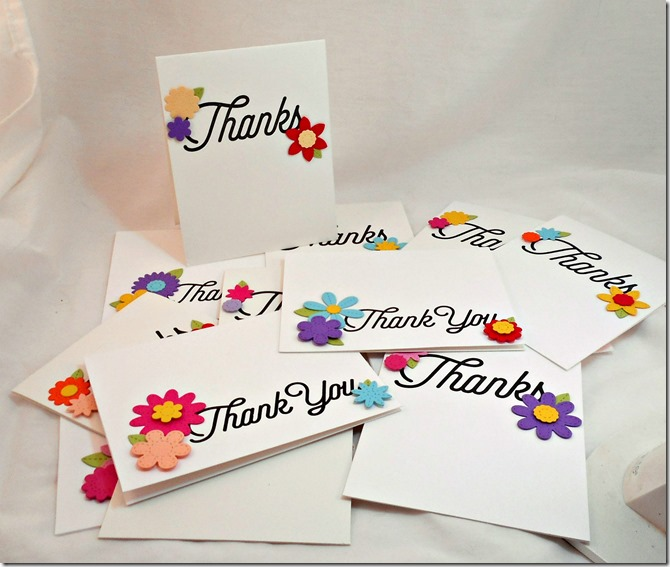 Sensational Stitched Thank You Notes