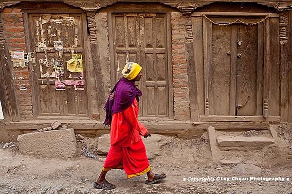 Local walking in Nepal