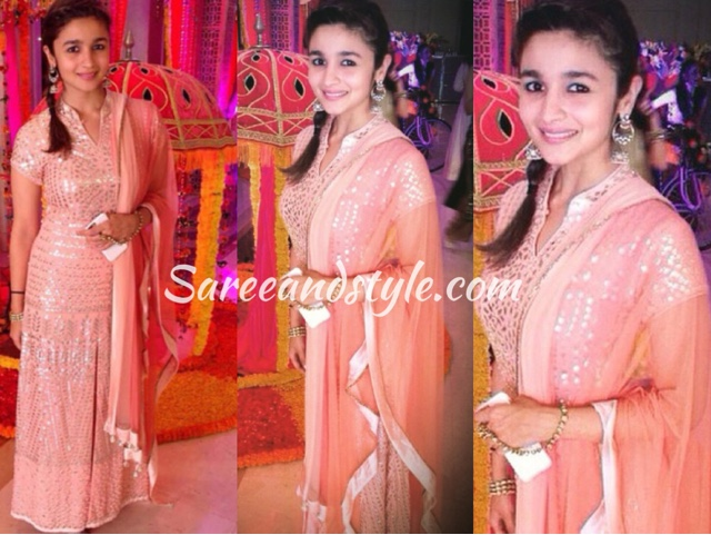 Image result for alia bhatt pink anarkali