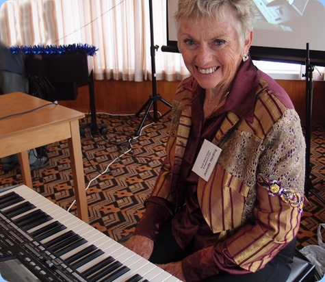 All the way from New Plymouth, our most distant member, Jeanette Harding, came all the way with husband Jimto give a 30 minute concert for us on her lovely Korg Pa3X. Great songs, great arrangements and great sounds. All that talent and superb vocals as well! Photo courtesy of Dennis Lyons.