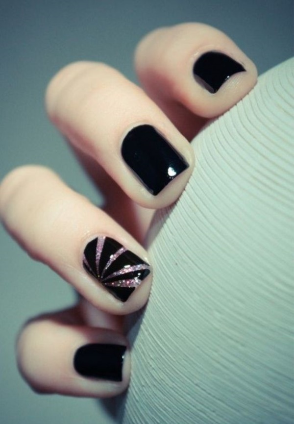 Cute Black Nail Ideas And Polish Designs 5