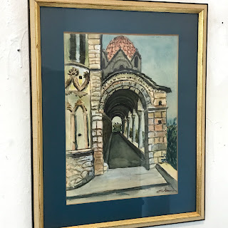 Signed Architectural Watercolor