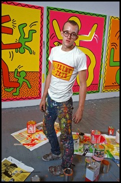 Keith Haring Studio Paint Mix Stand