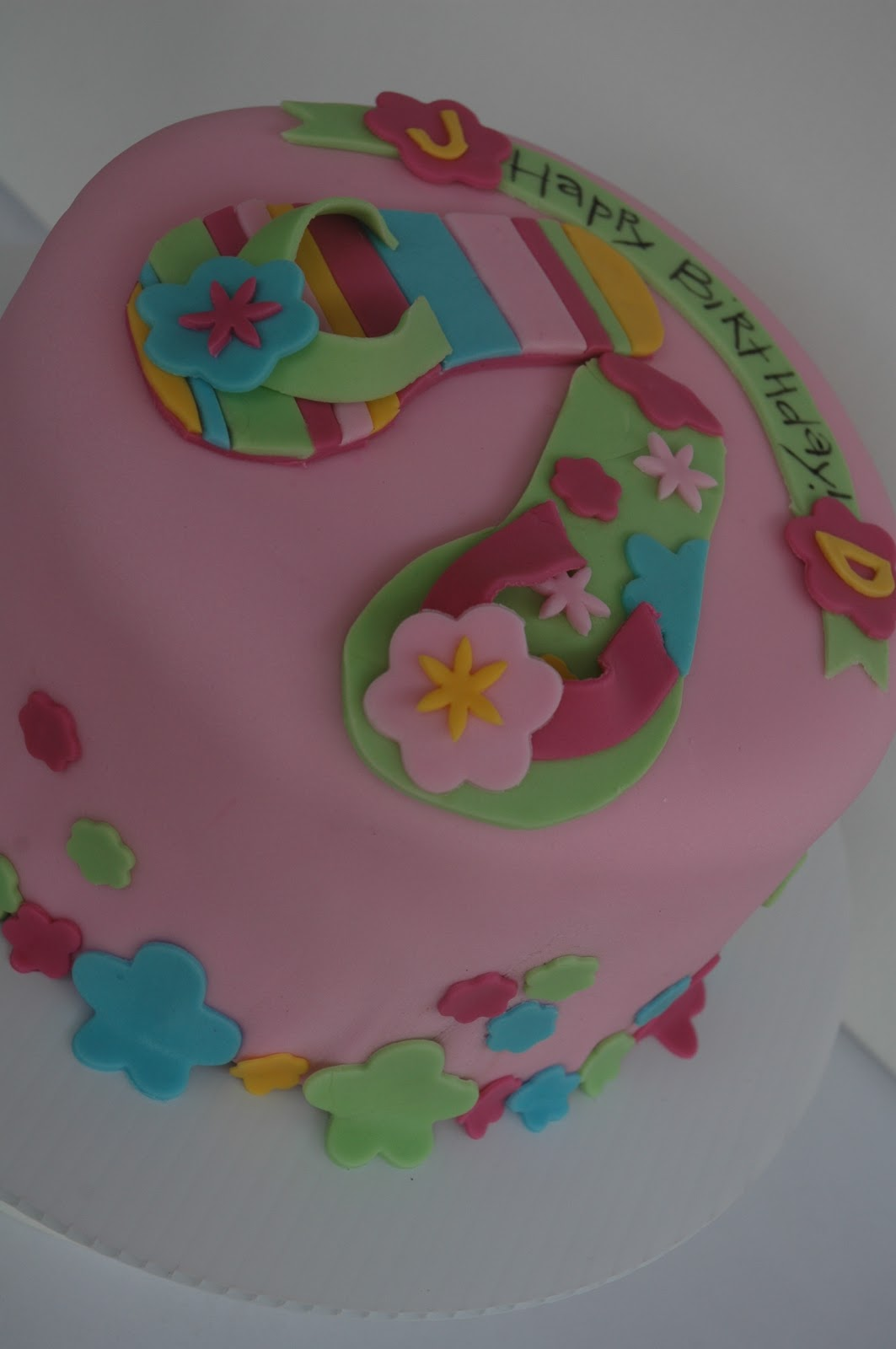 Swanky Pear Flip Flop Birthday Cake