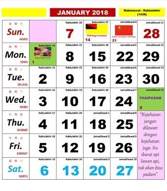 kalender kuda 2018 3