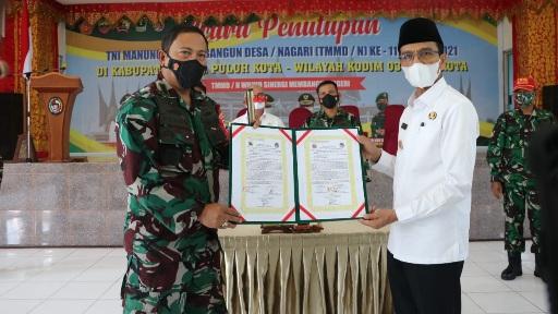 Ucapkan Terimakasih Pada TNI, TMMD ke 111 Kodim 0306/50 Kota Resmi Ditutup