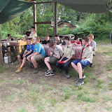 Troop Time.....this group went to the Scout Craft after dinner (two slices of bread and soup) and got to make pizza!