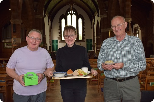 Saturday Cafe - Revd Lynne Cullens  (centre) and cafe co-workers at St Andrews Church